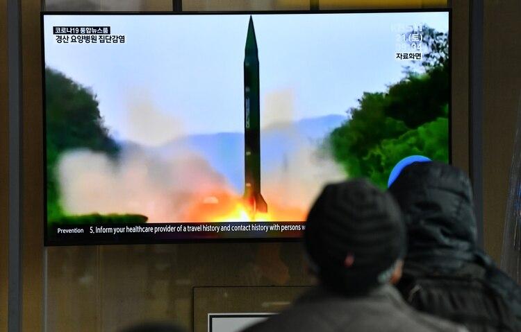 الإطلاق ، الذي أوردته الصحافة الكورية الجنوبية (أ ف ب)