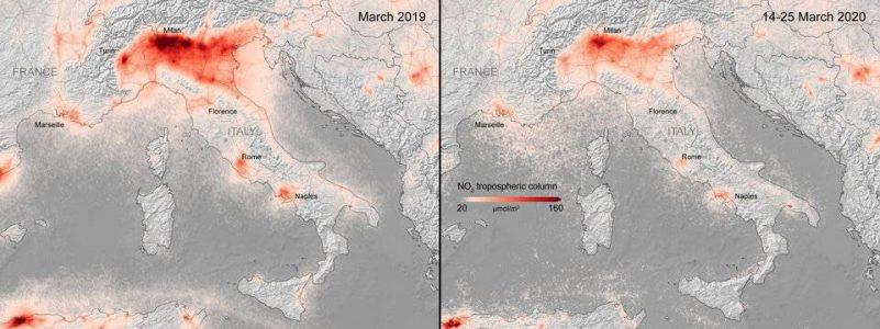 التلوث ، ثاني أكسيد النيتروجين ، CO2 ، COVID-19 ، الغازات والسيارات