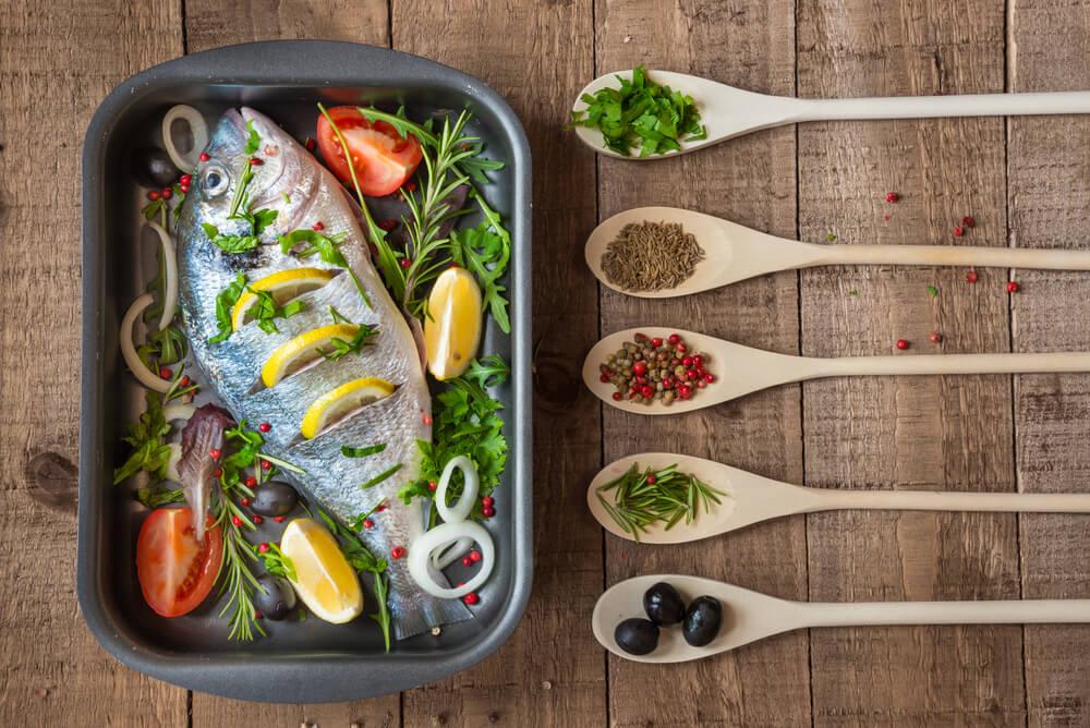 سمك مطبوخ.