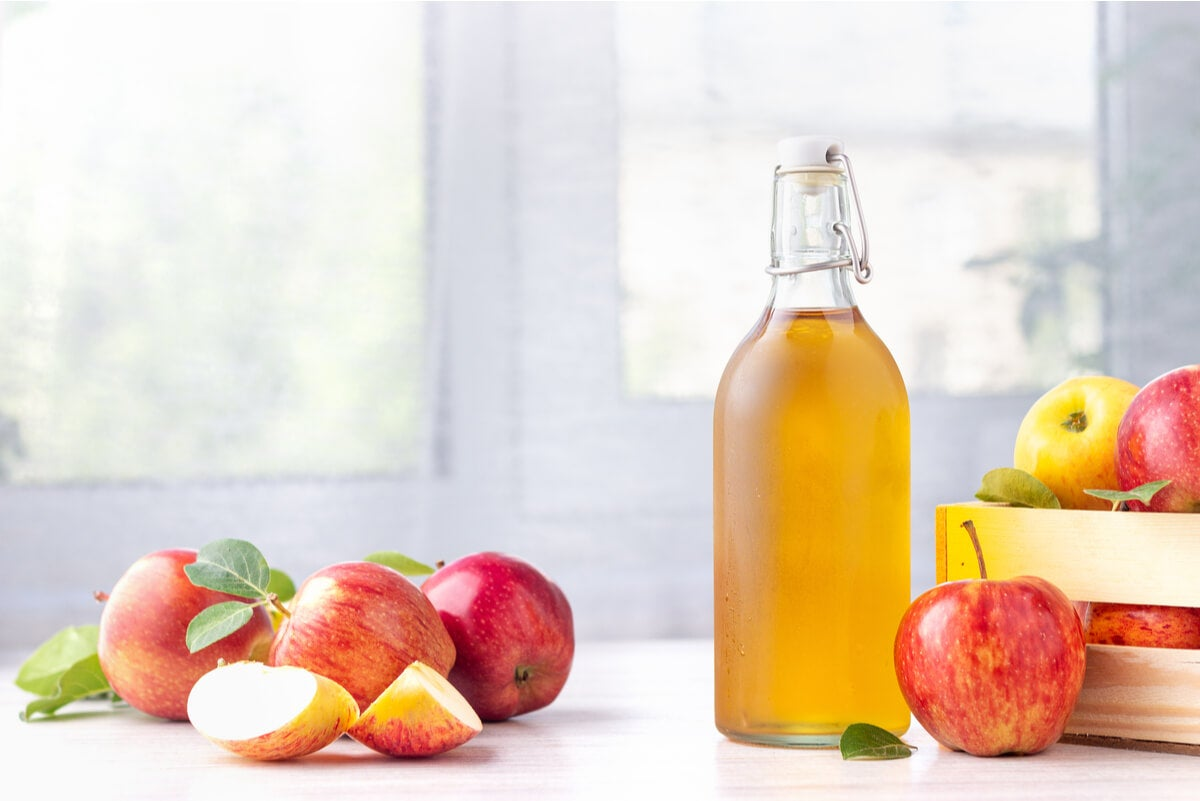 خل التفاح للبشرة.