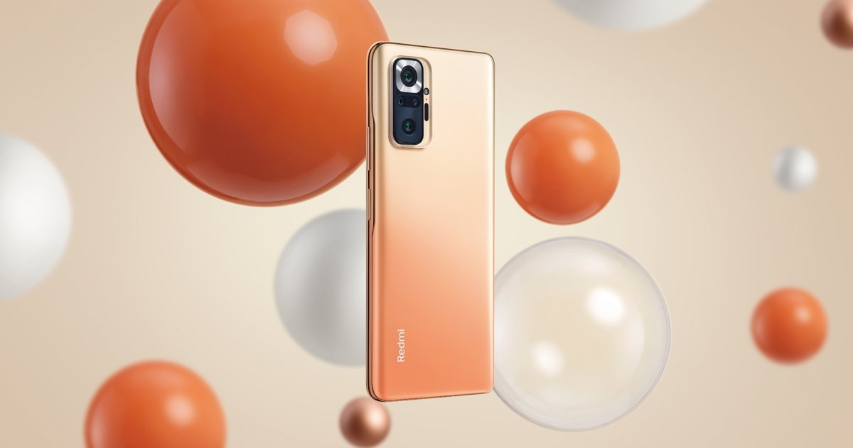 Xiaomi Redmi Note 10 Pro باللون البرتقالي