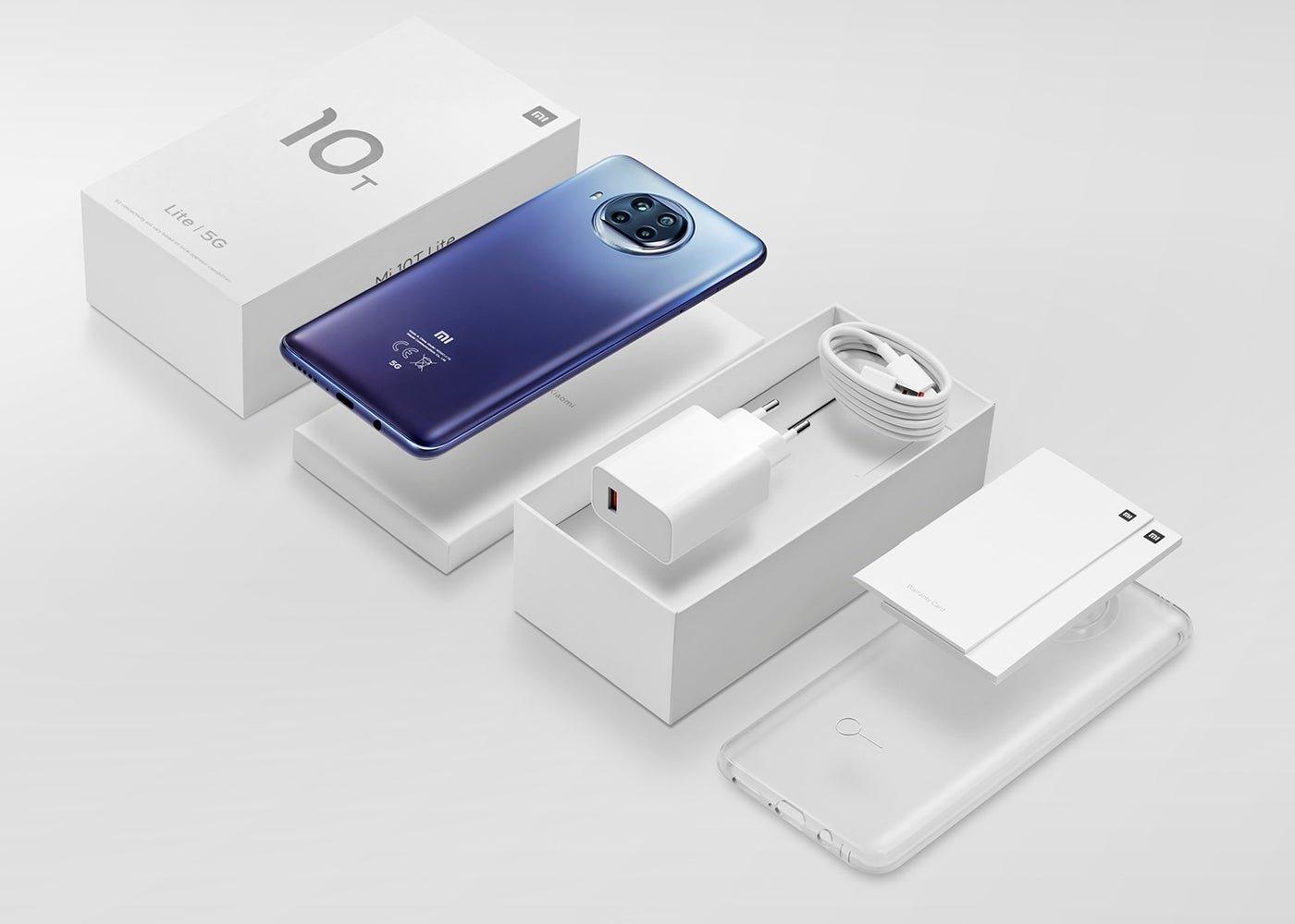 هاتف Xiaomi Mi 10T Lite 5G بعبوته الجديدة