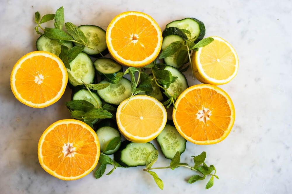 خيار ورذاذ برتقال