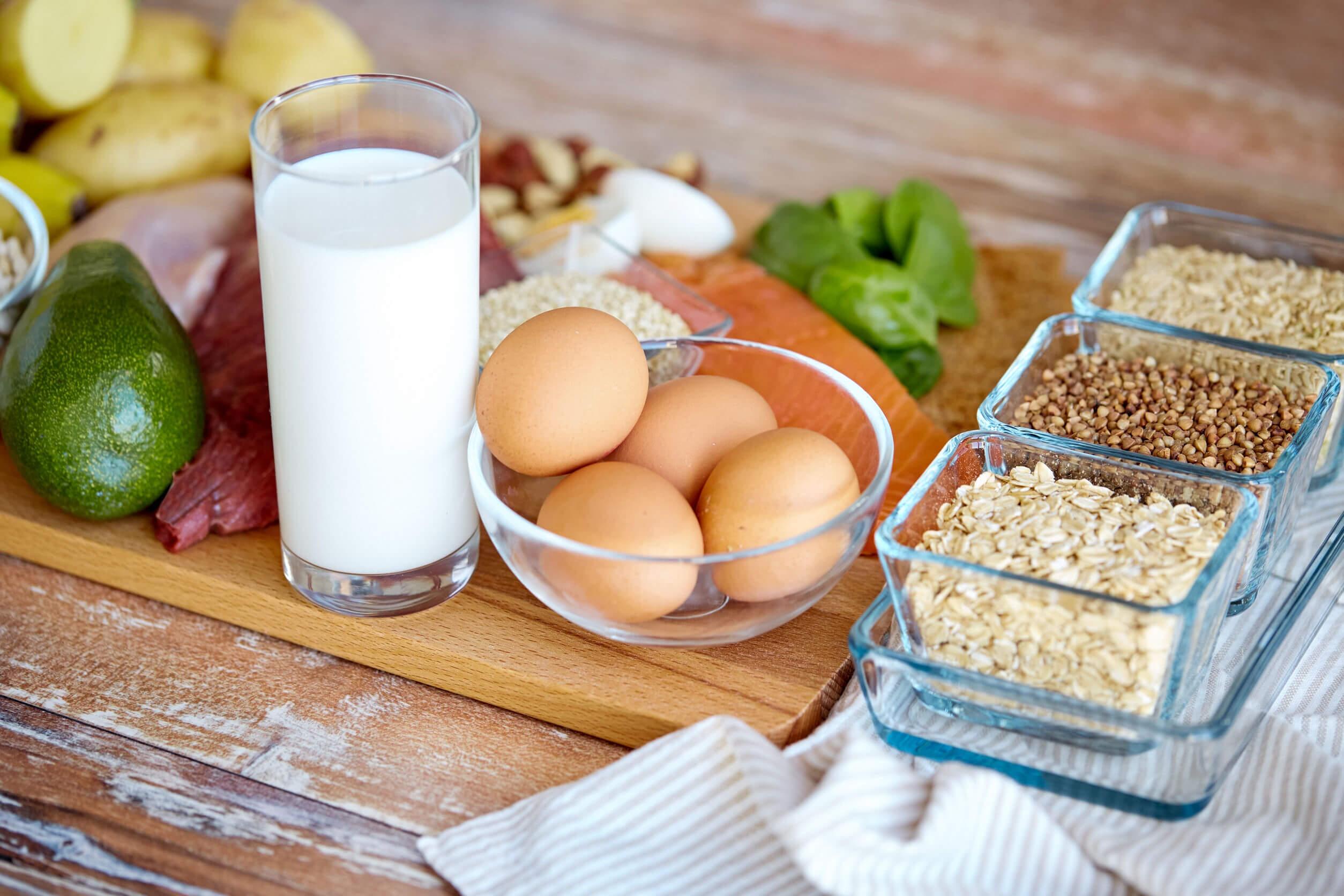البروتينات من الغذاء حسب التوقيت التغذوي.