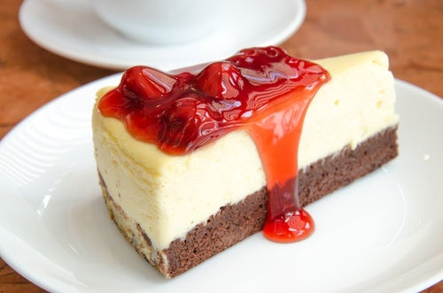 حلويات خالية من السكر: كعكة الجبن عنبية