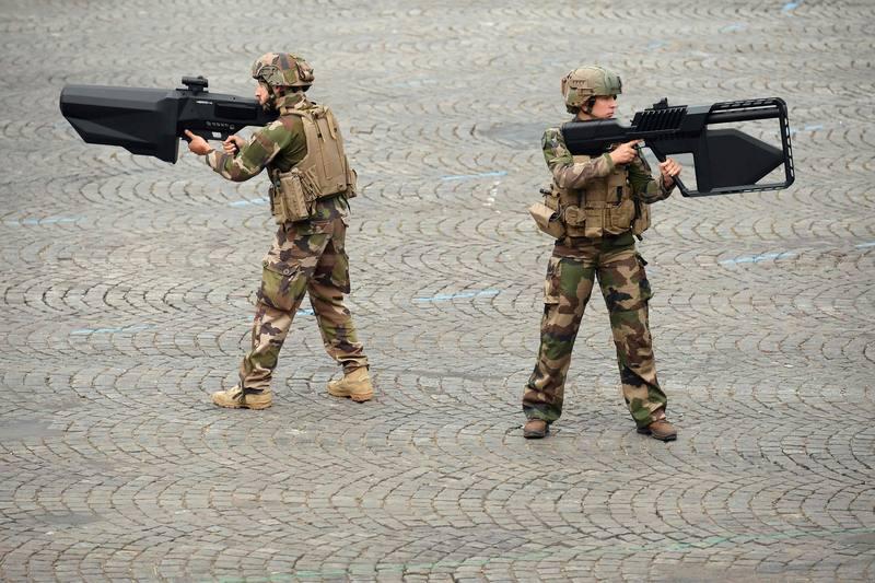 الجنود الفرنسيون خلال مناورة عسكرية. AFP ليونيل بونافينتور