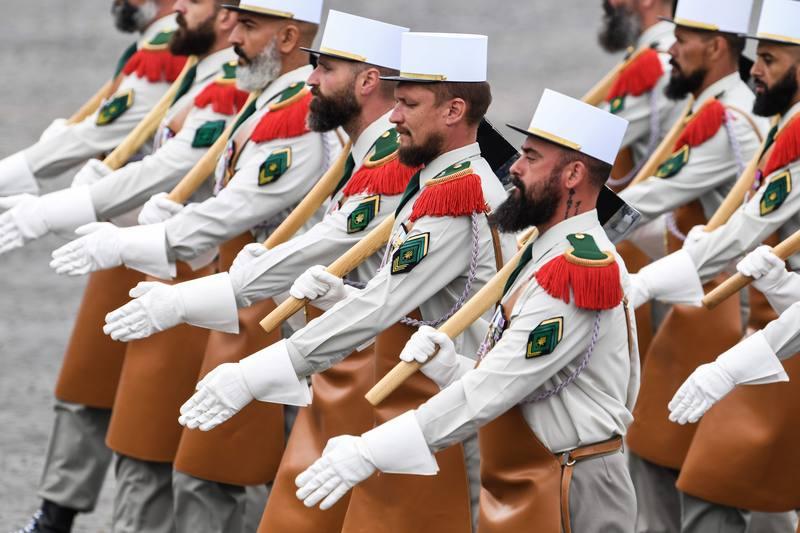 جنود الفيلق الأجنبي. AFP ألين جوكارد