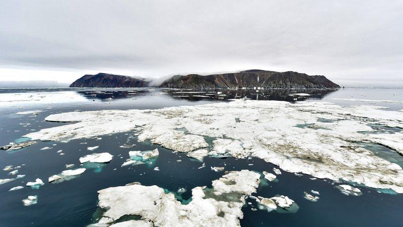 الجليد ، الجزر ، القطب الشمالي ، تغير المناخ ، ذوبان الجليد